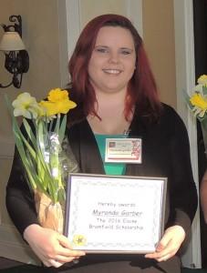 Myranda Garber – Elaine Bromfield Scholarship Recipient