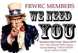 Nov. 16th – Annual Meeting & Social