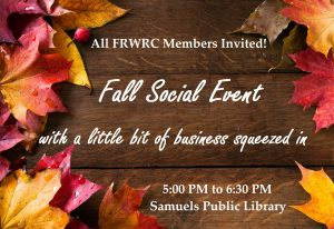 NEW TIMES – 5:00 PM to 6:30 PM – Nov. 16th – Annual Meeting & Social