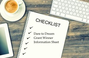 2019 Dare to Dream Grantee Information Sheet