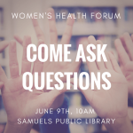 Women's Health Forum Guest Speakers