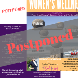 Finding Your Balance – Postponed