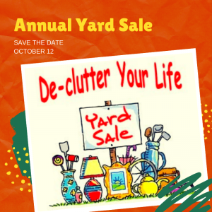 2019 Annual Yard Sale – October 12th