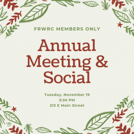 2019 Annual Members Only Meeting & Social
