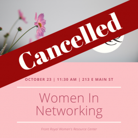 October 23 – Women In Networking (WIN)